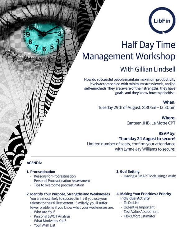 Time Management Workshop Invite