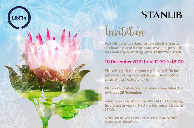 Year End Function Invite